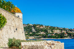 Panoramic view of Villefranche-sur-Mer, Nice, French Riviera. Royalty Free Stock Photography