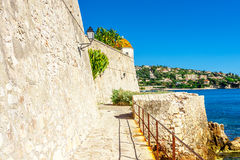 Panoramic view of Villefranche-sur-Mer, Nice, French Riviera. Stock Photos