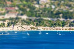 Panoramic view of Villefranche-sur-Mer, Nice, French Riviera Stock Photo