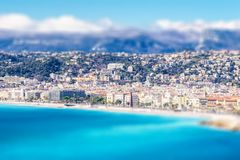 Panoramic view of Villefranche-sur-Mer, Nice, French Riviera Royalty Free Stock Images