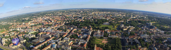 Panoramic view of Vilnius from birds eye Stock Photography