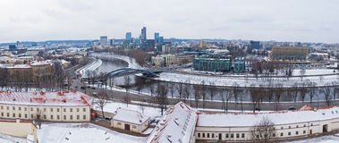 Panoramic view of Vilnius city, Lithuania Stock Images