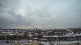 Panoramic view of Vilnius city, Lithuania Stock Photography