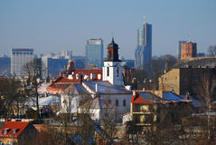 Panoramic view of Vilnius, Lithuania Royalty Free Stock Photo