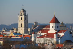 Panoramic view of Vilnius, Lithuania Stock Images