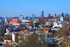 Panoramic view of Vilnius, Lithuania Stock Image