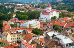 Panoramic view of Vilnius royalty free stock photography