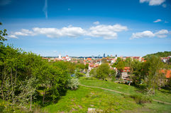 Panoramic view of Vilnius old town, Lithuania Royalty Free Stock Image