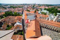 Panoramic view of Vilnius old town Stock Photos