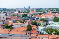 Panoramic view of Vilnius old town Stock Image