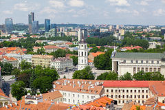 Panoramic view of Vilnius old town Stock Photos