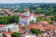 Panoramic view of Vilnius old town Royalty Free Stock Photo