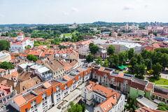 Panoramic view of Vilnius old town Royalty Free Stock Photography