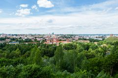 Panoramic view of Vilnius Royalty Free Stock Images