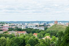 Panoramic view of Vilnius Royalty Free Stock Photos