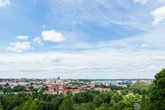 Panoramic view of Vilnius Stock Image