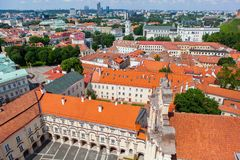 Panoramic view of Vilnius University Royalty Free Stock Images