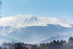 Vitosha Winter Mountain. Panoramic view of Vitosha mountain,Bulgaria Stock Photo