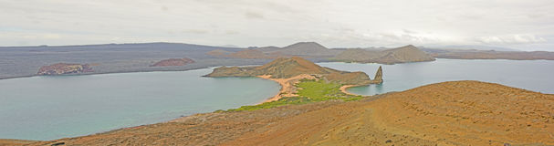Panoramic view of a Volcanic Island Royalty Free Stock Photography