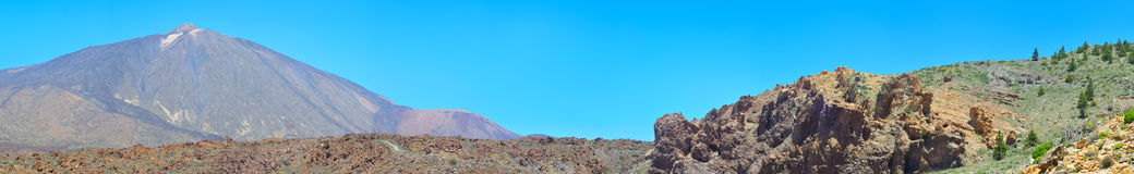 Panoramic view of volcano Teide, Tenerife, Canary islands, Royalty Free Stock Image