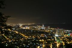 Panoramic view of Vung Tau from a high point of view stock image