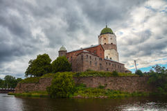 Panoramic view of Vyborg castle in Russia Stock Photography