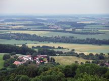 Panoramic view from Waldenburg Royalty Free Stock Images
