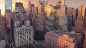 Panoramic view of Wall street of New York