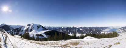 Panoramic view from Wallberg mountain, Germany Stock Photos
