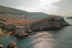 panoramic view of the walled city, Dubrovnik Croatia stock images