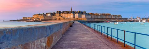 Medieval fortress Saint-Malo, Brittany, France Royalty Free Stock Photography