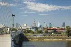 Panoramic view of Warsaw Royalty Free Stock Photos