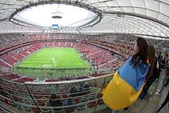 Panoramic view of Warsaw National Stadium Royalty Free Stock Image