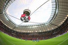 Panoramic view of Warsaw National Stadium Stock Photo