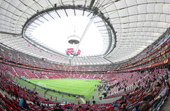 Panoramic view of Warsaw National Stadium Royalty Free Stock Photo