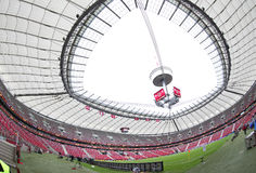 Panoramic view of Warsaw National Stadium (Stadion Narodowy) Stock Images