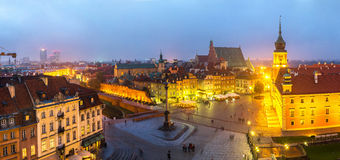 Panoramic view of Warsaw Stock Images