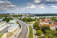 Panoramic view of Warsaw, Poland Stock Photography
