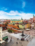 Panoramic view of Warsaw Royalty Free Stock Images