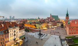 Panoramic view of Warsaw Royalty Free Stock Photos