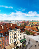 Panoramic view of Warsaw Stock Photography