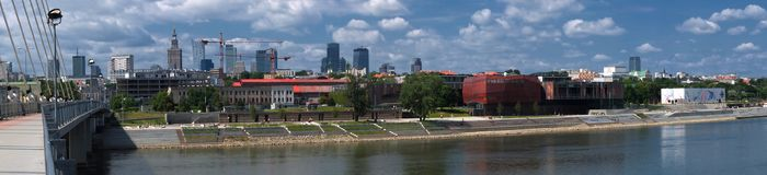 Panorama of Warsaw 4 royalty free stock photography