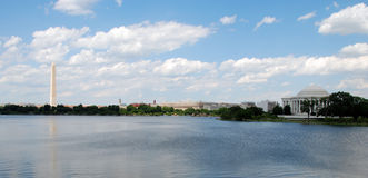 Panoramic view of Washington Monument Royalty Free Stock Photo