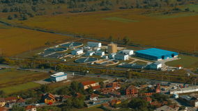 Panoramic View of Water Treatment Plant stock video