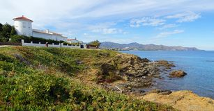 Waterfront villa in Costa Brava Stock Images