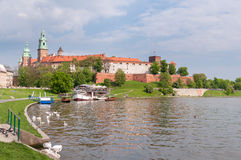 Panoramic view of Wawel Castle Stock Photography