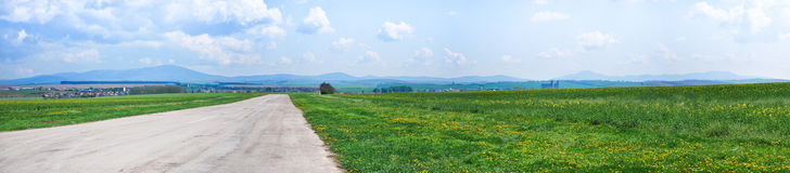 Panoramic view of the way Stock Images