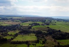 Panoramic view of west yorkshire countryside near halifax Royalty Free Stock Photo