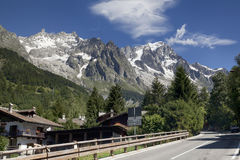 Panoramic view of Western Alps. Stock Photo