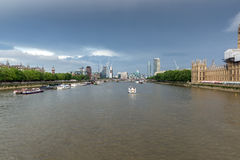 Panoramic view from Westminster bridge, London, England Stock Photo